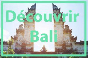 Découvrir Bali Indonésie